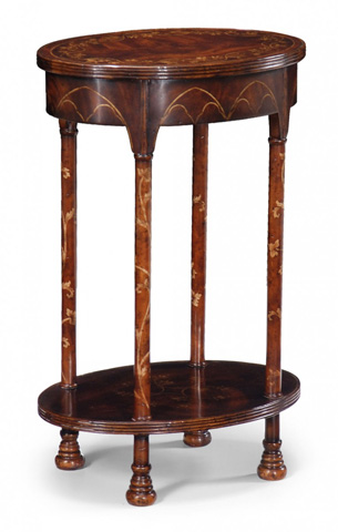 Jonathan Charles - Gothic Mahogany Oval Lamp Table - 493250