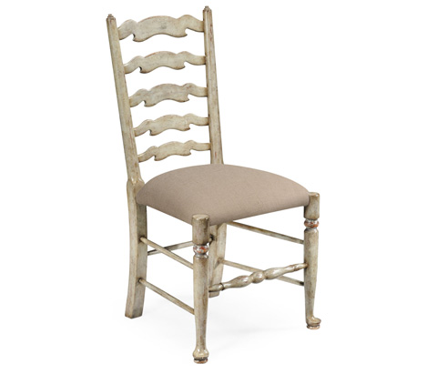 Jonathan Charles - Grey Painted Ladder Back Chair - 493267