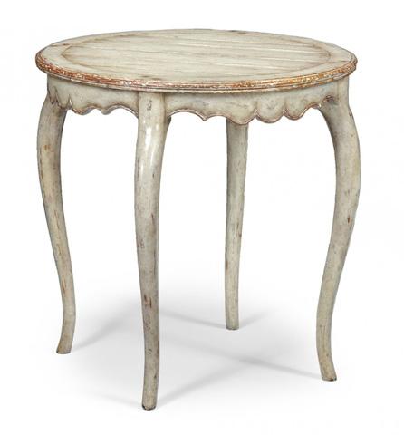 Jonathan Charles - Grey Rub-Through Round Side Table - 493273