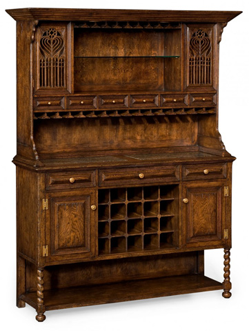 Image of TudorbethanDark Oak Dresser For Drinks Storage