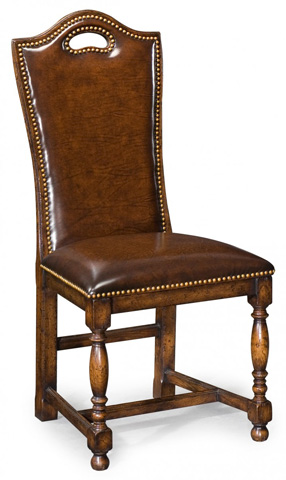 Image of Dark Oak High Back Chair