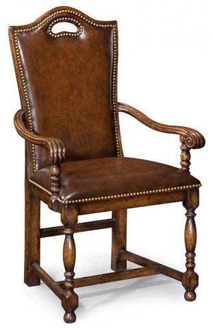 Jonathan Charles - Dark Oak High Back Chair - 493382