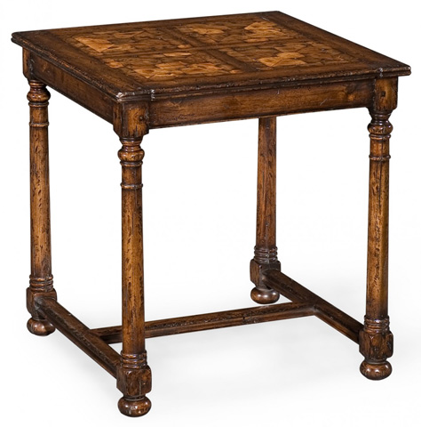Jonathan Charles - Square Oyster Parquet Side Table - 493411
