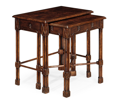 Jonathan Charles - Chippendale Gothic Style Nesting Tables - 493484