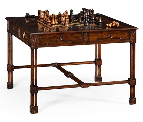Jonathan Charles - Chippendale Gothic Games Table - 493532
