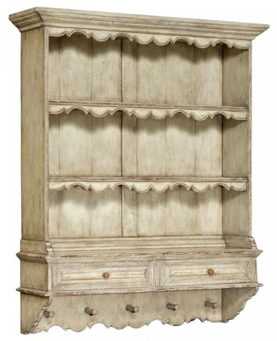 Jonathan Charles - White Painted Hanging Shelves - 493557
