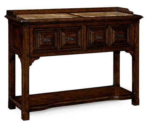 Jonathan Charles - Tudor Style Dark Oak Buffet Or Serving Table - 493564