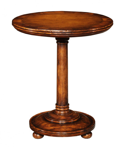 Jonathan Charles - Oyster and Walnut Round Lamp Table - 493609