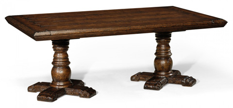 Jonathan Charles - Twin Baluster Dark Oak Coffee Table - 493769