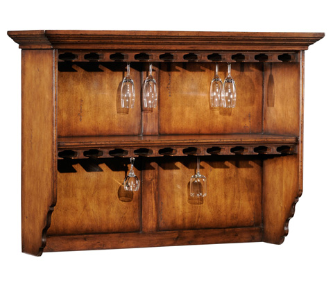 Jonathan Charles - Hanging Shelf with Glass Storage - 494022