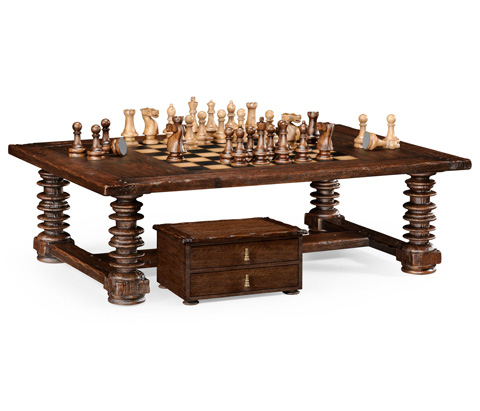Image of Turned Leg Heavy Distressed Games Table