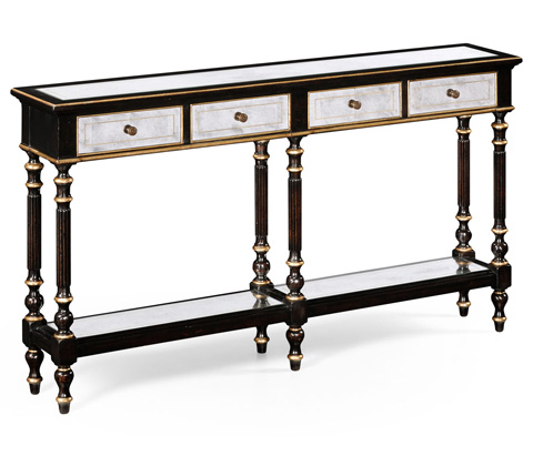 Jonathan Charles - Black and Mirrored Console - 494147