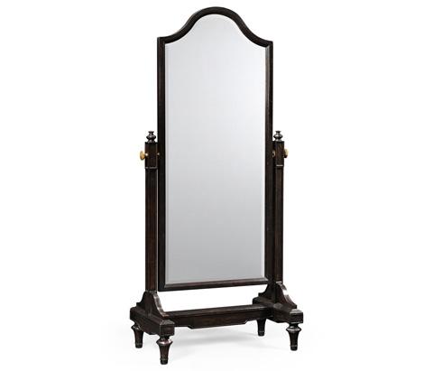 Jonathan Charles - Ebonised Cheval Mirror - 494170