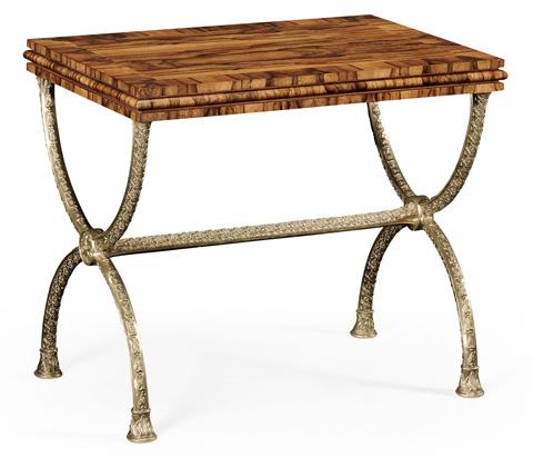 Jonathan Charles - Argentinian Walnut Rectangular Side Table - 494229