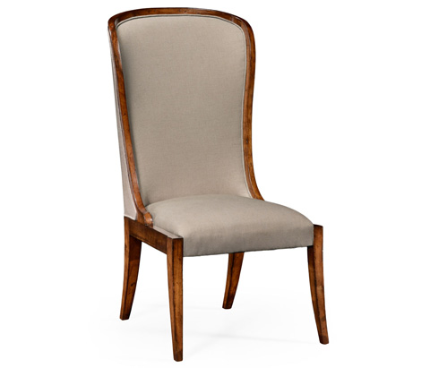 Jonathan Charles - High Curved Back Upholstered Dining Side Chair - 494305