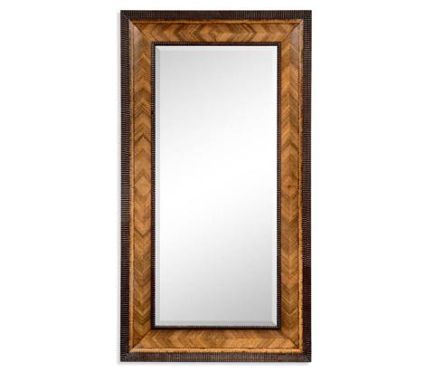 Jonathan Charles - Gadrooned Floor Standing Mirror - 494361