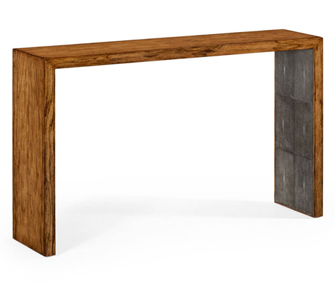 Jonathan Charles - Argentinian Walnut and Anthracite Console - 494401