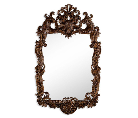 Jonathan Charles - Finely Carved Walnut Rococo Style Mirror - 494416