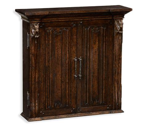 Jonathan Charles - Dartboard Cabinet in Dark Brown - 494417