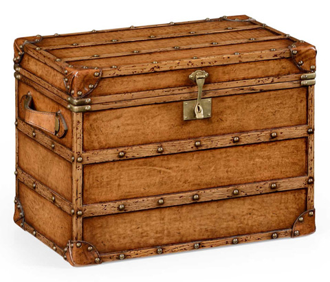 Jonathan Charles - Leather Steamer Trunk - 494427