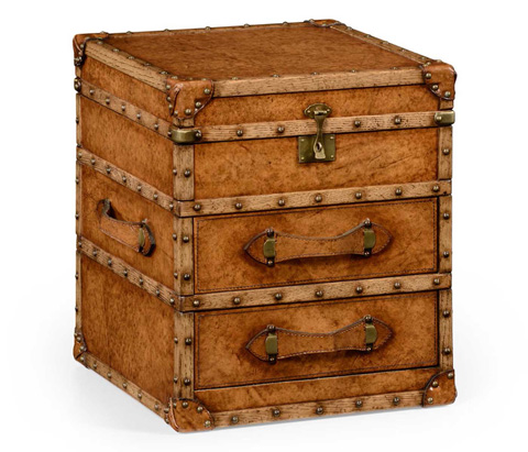 Jonathan Charles - Steamer Trunk Chest with Drawers - 494435