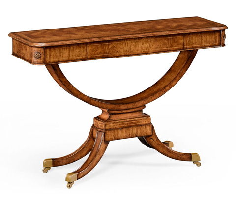 Jonathan Charles - Biedermeier Style Crotch Walnut Sofa Table - 494456