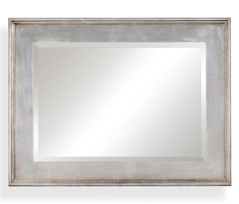Image of Rectangular Silver Leaf Mirror
