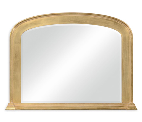 Jonathan Charles - Victorian Style Gilded Overmantle Mirror - 494463