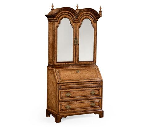 Image of Queen Anne Pollard Veneer Bureau Cabinet