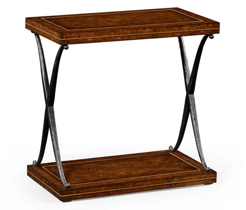 Jonathan Charles - Hammered Iron Two Tier Table - 494529