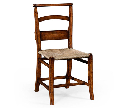 Image of Rustic Walnut Church Side Chair