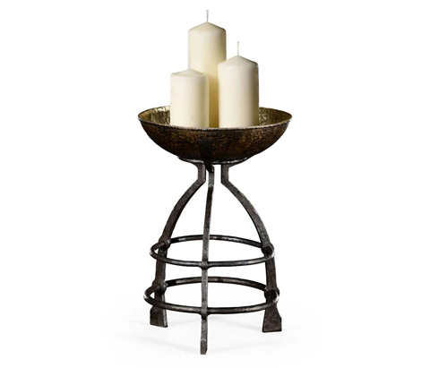 Image of Wrought Iron Candle Stand