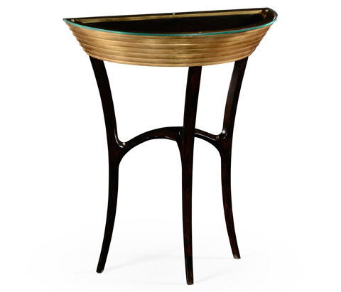 Jonathan Charles - Stepped Gilt Demilune Console - 494573
