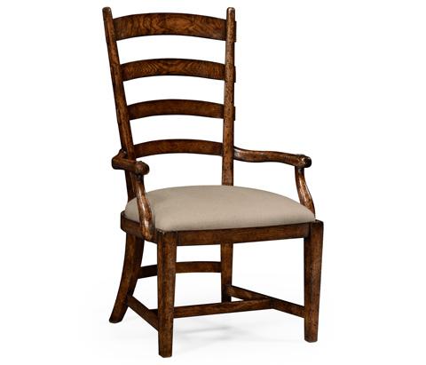 Jonathan Charles - Oak Fireside Arm Chair - 494603