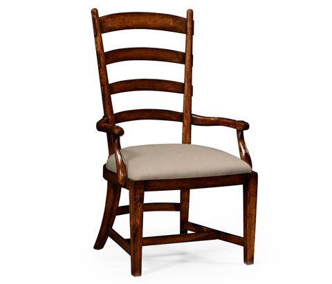 Jonathan Charles - Walnut Fireside Arm Chair - 494605