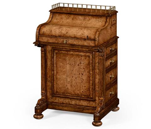 Image of Burl Oak Davenport Desk