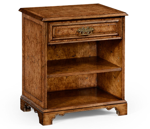 Jonathan Charles - George Ii Style Burl Oak Bedside Table with Drawer - 494664