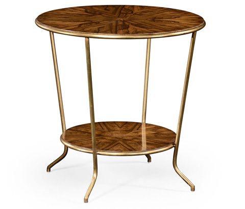 Jonathan Charles - Argentinian Walnut Veneered Round Side Table - 494678