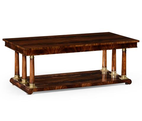 Jonathan Charles - Mahogany Rectangular Coffee Table - 494798