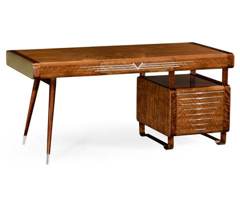 Jonathan Charles - 50's Americana Pedestal Desk - 494880