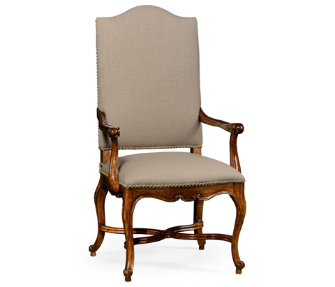 Jonathan Charles - French Baronial Style Country Arm Chair - 494888