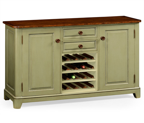 Image of Gustavian Style Sideboard with Wine Rack