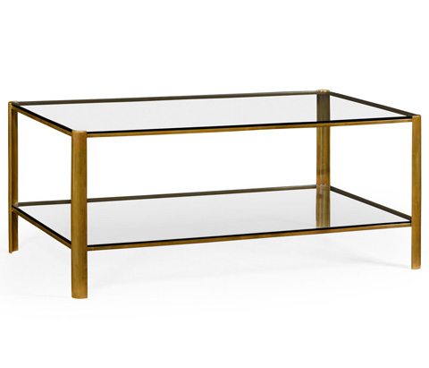 Jonathan Charles - Brass Coffee Table - 494977