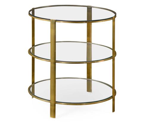 Jonathan Charles - Modernist Brass Circular Side Table - 495011