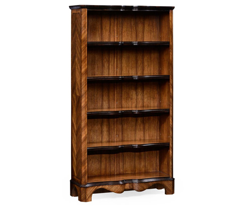 Image of Argentinian Walnut Tall Open Bookcase