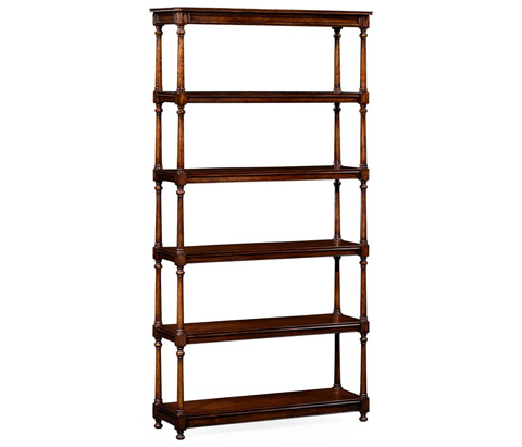 Jonathan Charles - Five Tier Etagere with Double Column Supports - 495022