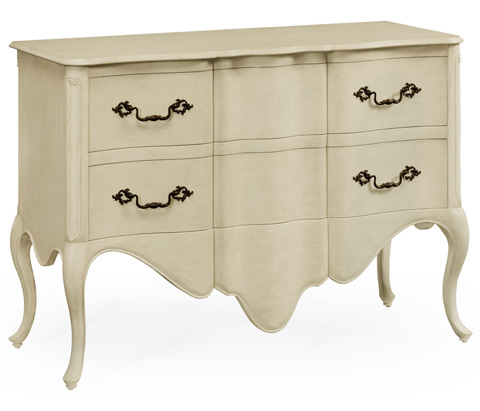Jonathan Charles - Linen Painted French Provincial Chest of Drawers - 495038-LIN
