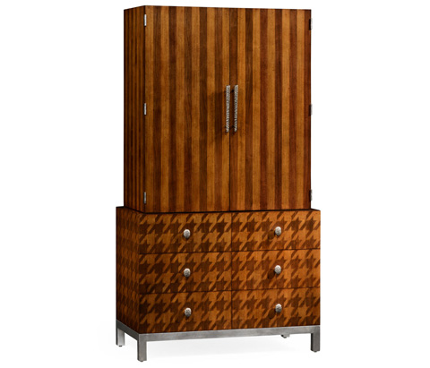 Jonathan Charles - Houndstooth Drink Cabinet - 495057