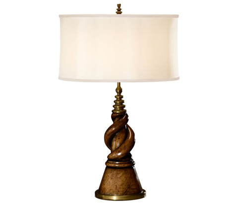 Jonathan Charles - Twisted Walnut Table Lamp - 495116