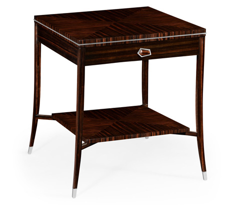 Jonathan Charles - Soho End Table with White Brass Detail - 495167